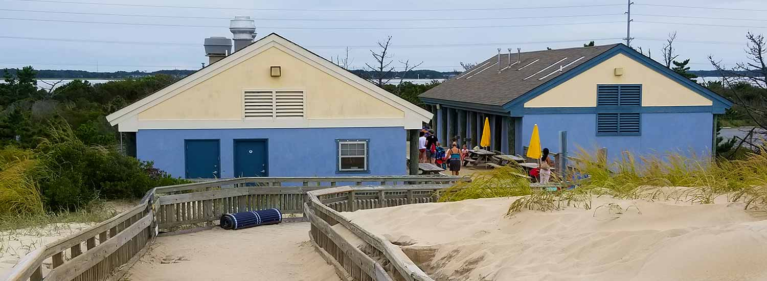 Bathhouse at Fenwick Island State Park in 2017